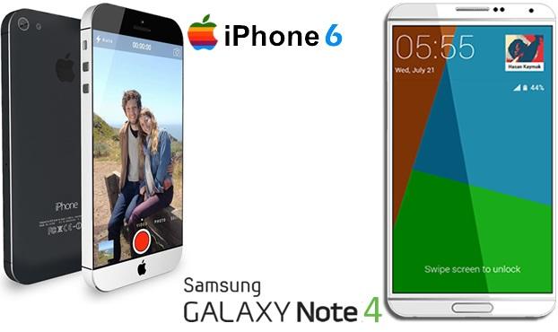 के छ अाईफोन ६ र सामसुङ ग्यालेक्सी नोट ४ को फीचर्स ?