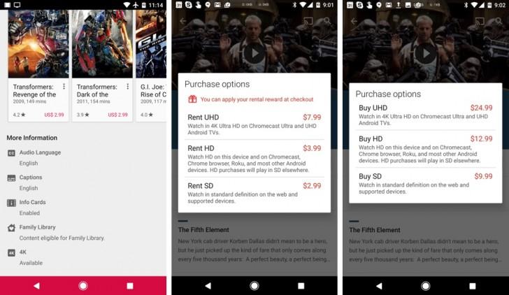गूगल प्ले मूभिमा अब 'फोर के' भिडियोहरु उपलब्ध