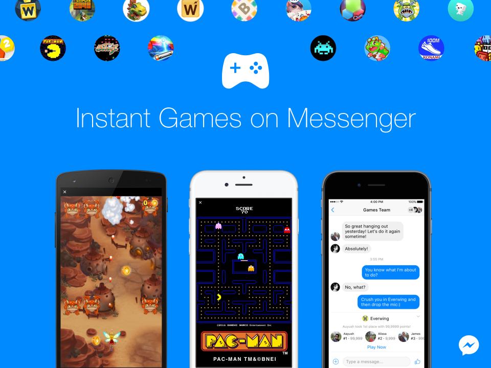 अब फेसबुक मेसेन्जरमा गेम खेल्नुस्, साथीभाईलाई चुनौती दिनुस्