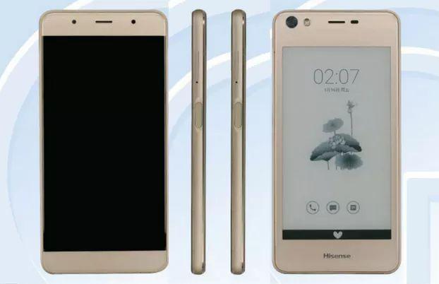 हाइसेन्सको 'ए२' स्मार्टफोन, अगाडि र पछाडि दुबै भागमा डिस्प्ले
