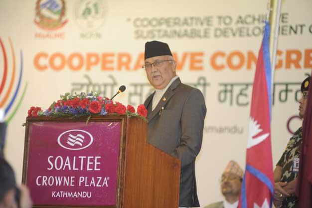 देशको विकासका लागि सहकारीको विकल्प छैनः प्रधानमन्त्री