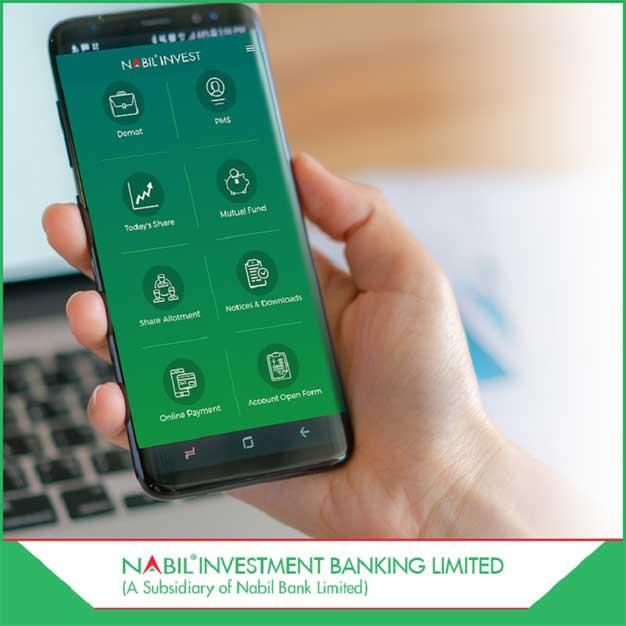 नबिल इन्भेष्टमेन्ट बैंकको मोबाइल एप 'नबिल इन्भेष्ट' सार्वजनिक