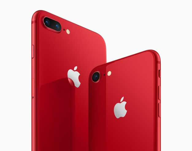 यस्तो छ एप्पलको आइफोन ८ सिरिजको रेड भेरिएन्ट