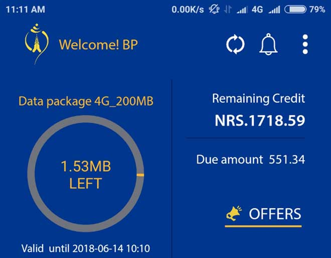 नेपाल टेलिकमको मोबाइल एपबाट डिटेल बिल हेर्न सकिने, अन्य सिममा रिचार्ज गर्न पाईने