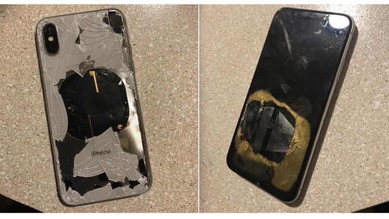 एप्पलको आइफोन एक्स सफ्टवेयर अपडेट गरिरहेको बेलामा पड्कियो, कम्पनीले अनुसन्धान गर्ने