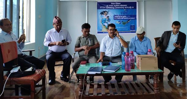 महेन्द्रनगरमा एफटीटीएच सेवा शुरु, वार्षिक ८ हजार रुपैयाँ तिरेपछि ८ एमबीपीएसको प्याक पाईने