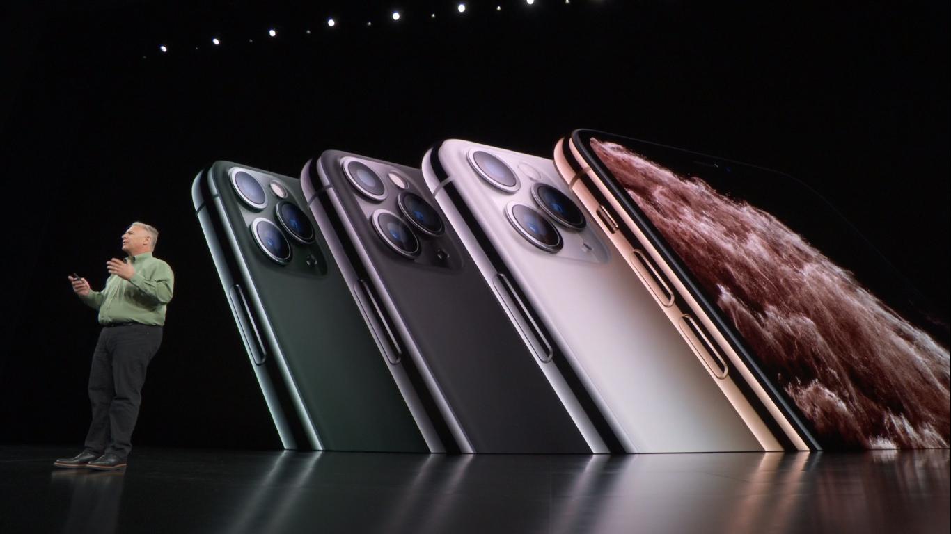 एप्पल इभेन्टमा आइफोन ११ प्रो र प्रो म्याक्सको विशेषताहरु बारे जानकारी दिईँदै