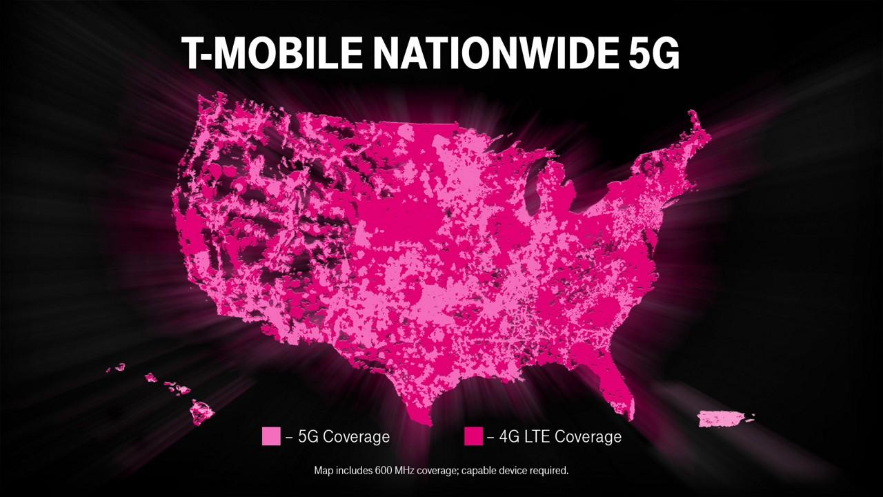 टी-मोबाइलद्धारा ६०० मेगाहर्ज ब्याण्डमा अमेरिकाभर एकैपटक ५जी नेटवर्क शुरु