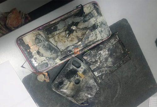 जब शाओमी रेडमी नोट ७ प्रो स्मार्टफोनमा ब्लास्ट पछि आगो लाग्यो…