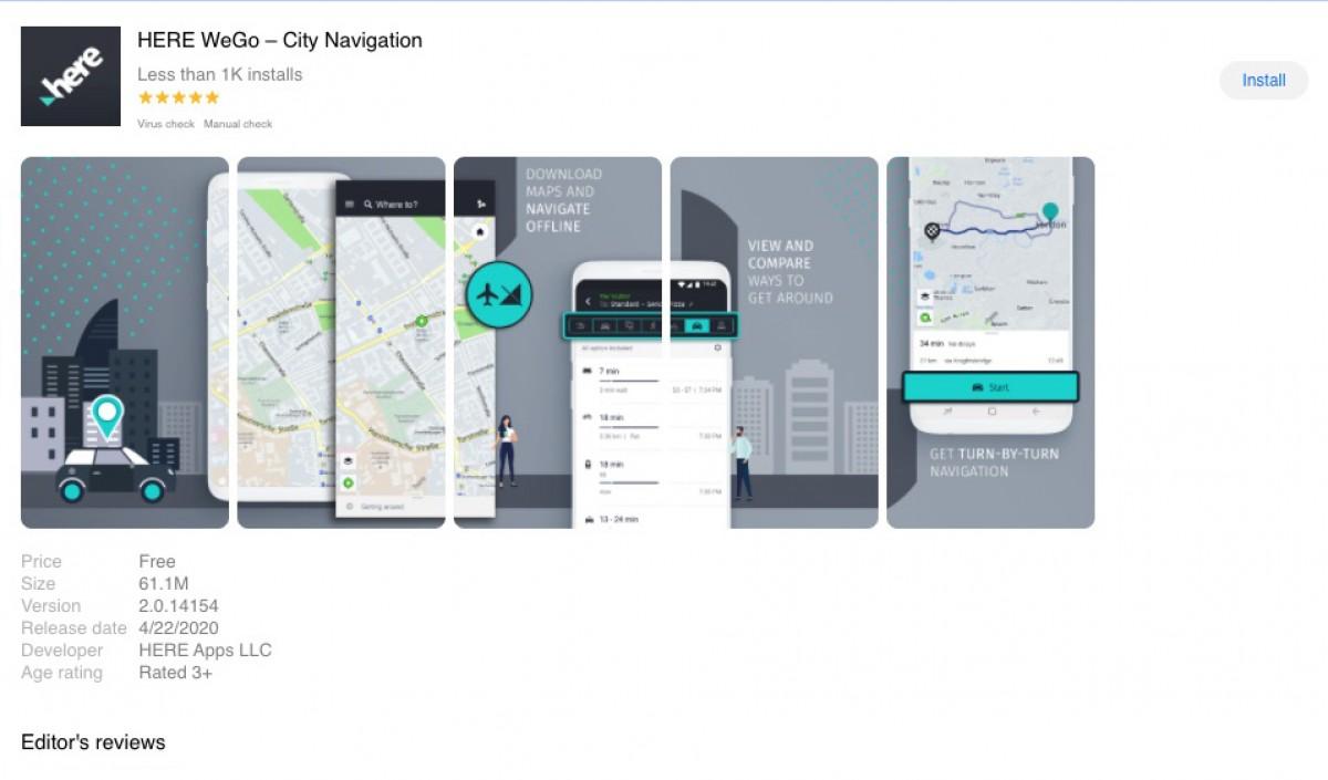 ह्वावेको एप ग्यालरीमा 'हियर वीगो म्याप्स' एप डाउनलोडका लागि उपलब्ध, गूगल म्याप्सको विकल्प