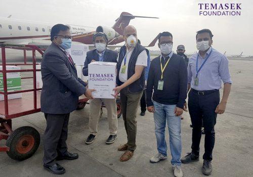 टेमासेक फाउन्डेशनले नेपाललाई कोभिड-१९ परीक्षण गर्न १० हजार फर्टिट्यूड किट २.० दियो