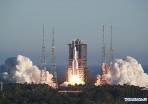 चीनले सबैभन्दा ठूलो नयाँ रकेट लङ्ग मार्च-५बी उडायो, स्पेस स्टेशन कार्यक्रमका लागि उपयोग गर्ने