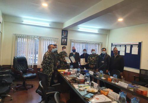 निर्माणाधिन फास्ट ट्र्याकमा अप्टिकल फाइबर राखिने, नेपाल टेलिकम र नेपाली सेनाबीच सम्झौता