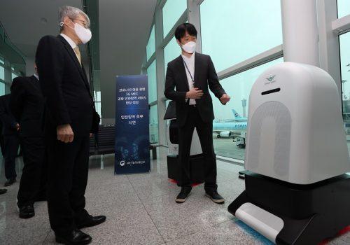 दक्षिण कोरियाको अन्तर्राष्ट्रिय एयरपोर्टमा फाइभजी प्रविधिमार्फत कोरोना जाँच