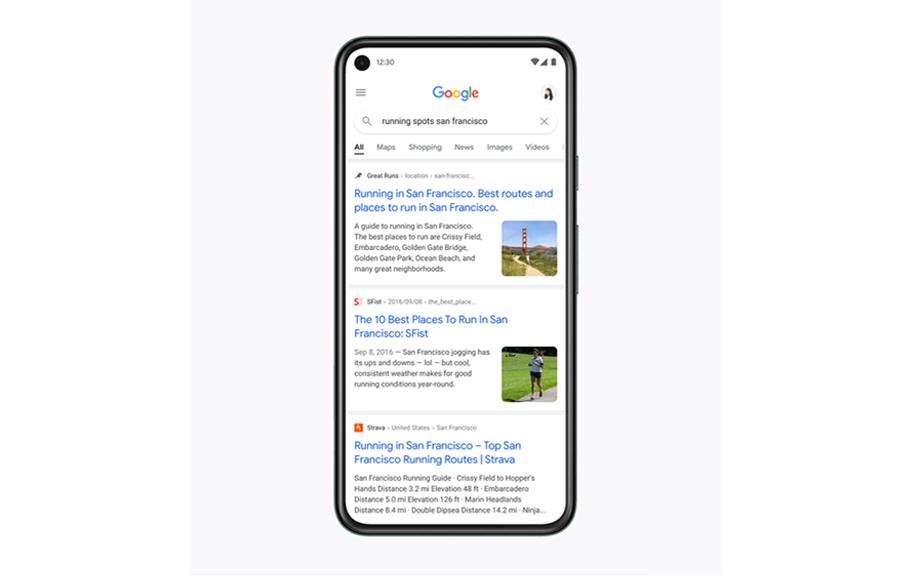 गुगलले एन्ड्रोइड र आईओएस मोबाइल सर्चलाई नयाँ डिजाइनमा ल्याउने