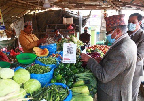ग्लोबल आइएमई बैंकद्वारा ललितपुरको नख्खु क्षेत्रमा क्यूआर मार्फत भुक्तानी कारोबार सुरु