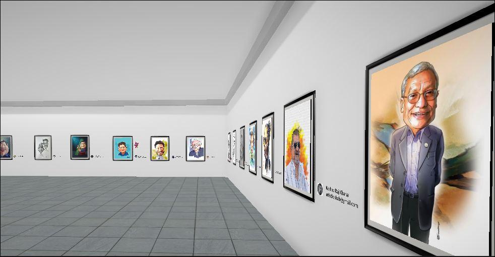 भर्चुअल क्यारिकेचर प्रदर्शनी हुँदै, घर बसेर अनलाइनबाटै हेर्न सकिने