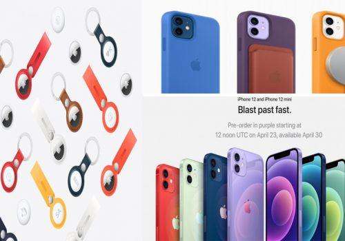 पर्पल आईफोन १२ तथा एयरट्यागको प्रि-अर्डर खुला, अप्रिल ३० मा हात पर्ने