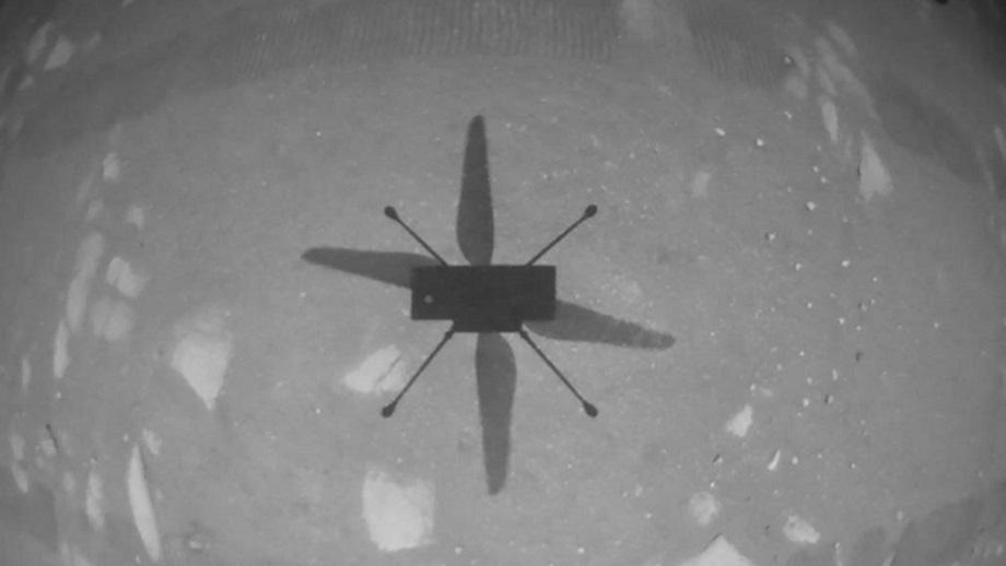 इन्जेनुइटी हेलिकप्टरले मंगल ग्रहमा उडान भर्यो