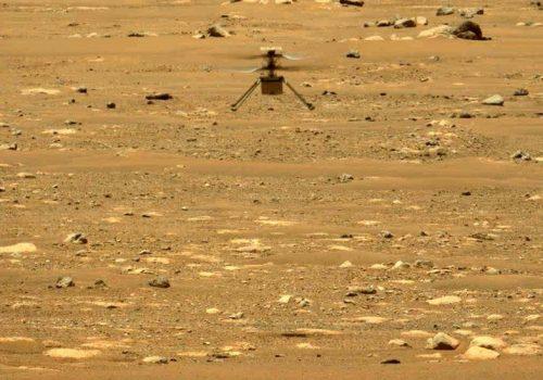 नासाद्धारा मंगल ग्रहमा उडान भरेको इन्जेनुइटी हेलिकप्टरको ध्वनि रेकर्ड