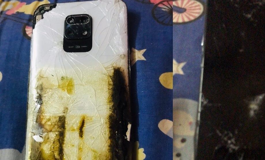 चलाउँदै गरेको शाओमीको रेडमी नोट९ प्रो स्मार्टफोनमा आगलागी
