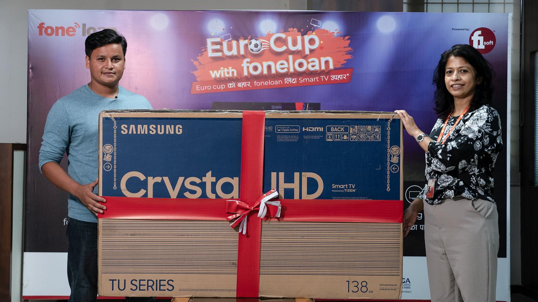 'युरो कप विथ फोनलोन योजना' को विजेता घोषणा, सामसङको ५५ इन्च स्मार्ट टिभी उपहार