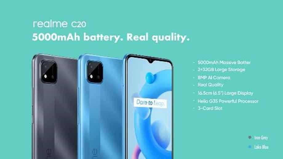 रियलमीको दुई नयाँ स्मार्टफोन 'सी २०' र 'सी २१' नेपाली बजारमा