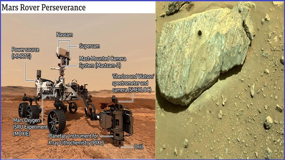 पर्सिभेरन्स रोभरले मंगल ग्रहमा पहिलो चट्टानी नमूना संकलन गरेको नासाको विश्वास